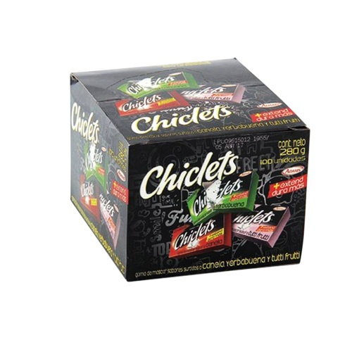 Chiclets ADAMS Surtido Pequeño 100 und. 280 gr