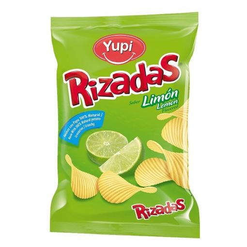 Patatas Rizadas YUPI Sabor Limón 20 x 115 gr
